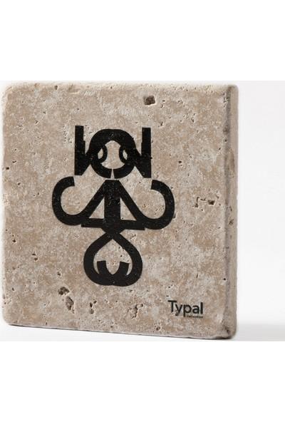 Typal Collection Doğal Taş Bardak Altlığı - Yogi