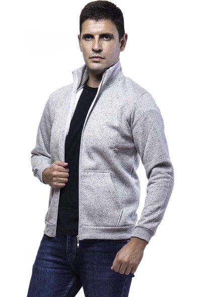 Slazenger Sanford Erkek Sweat Shirt K.Gri