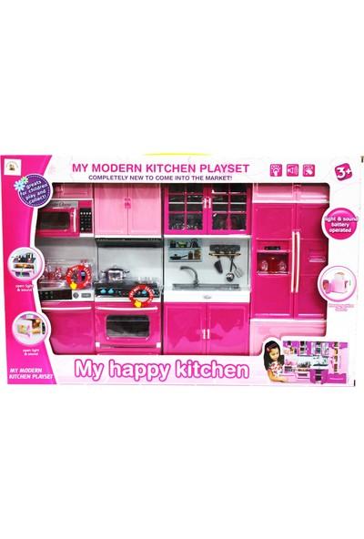 Kayyum Oyuncak Mutfak Seti 4'lü Işıklı Müzikli Sesli Tüm Kapakları Açılır Kapanır