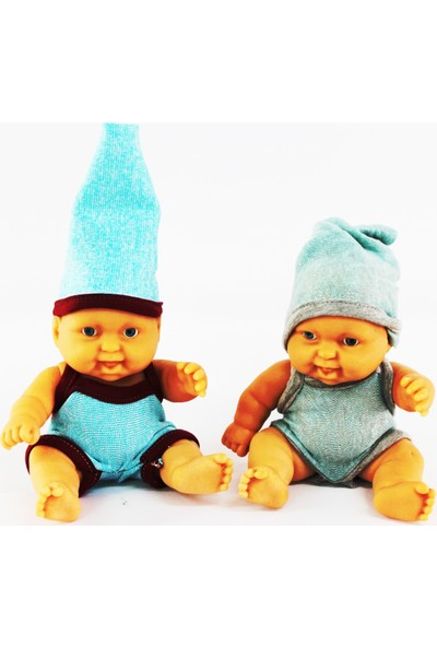 Ömer Oyuncak Et Bebekler 2'li Erkek Bebek Saçsız Elbiseli