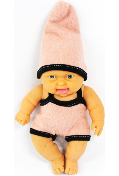 Ömer Oyuncak Et Bebek Tekli Toz Pembe Elbiseli