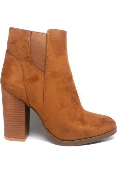 Shop And Shoes 171-412 Bayan Bot Taba Süet