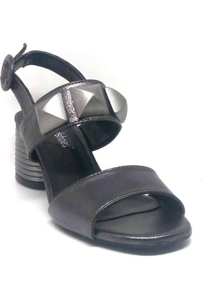 Shop And Shoes 040-301 Bayan Ayakkabı Platin