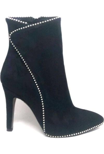 Shop And Shoes 219-314 Bayan Bot Siyah Süet