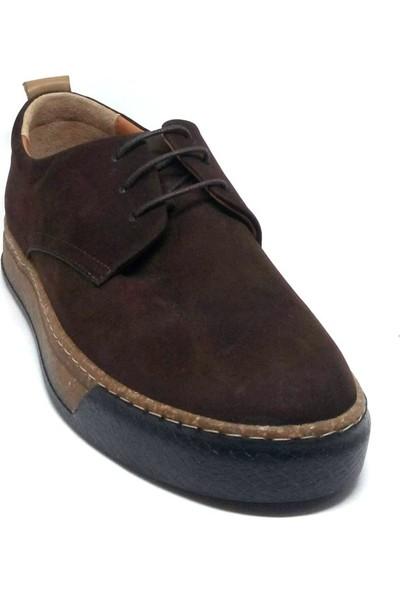 Shop And Shoes 001-472239 Erkek Ayakkabı Kahve Nubuk