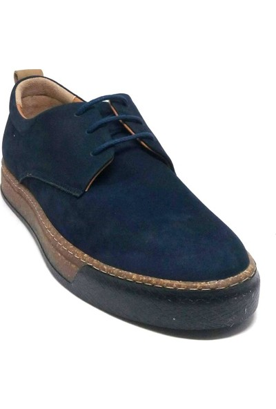 Shop And Shoes 001-472239 Erkek Ayakkabı Lacivert Nubuk