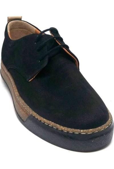 Shop And Shoes 001-472239 Erkek Ayakkabı Siyah Nubuk
