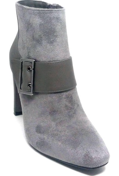 Shop And Shoes 219-391K Bayan Bot Gri Süet