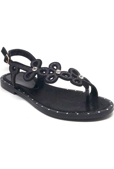 Shop And Shoes 190-1025 Bayan Sandalet Siyah