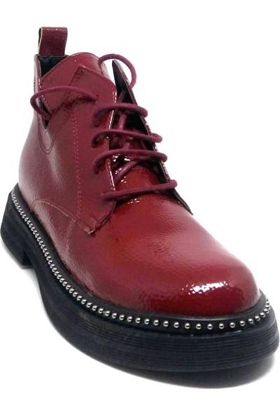 Shop And Shoes 007-1615001 Bayan Bot Bordo Rugan