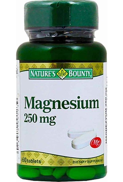 Nature's Bounty Magnesium 250mg 60 Tablet