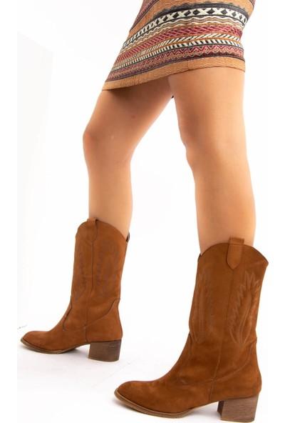 Fox Shoes Taba Süet Kadın Bot E267730002