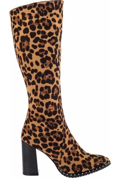 Fox Shoes Leopar Kadın Çizme C654088502