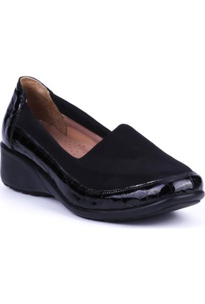 Girl Boss New York Estella Siyah Rugan Deri Hostes Ayakkabısı C4008-F-1
