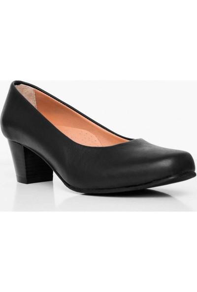 Girl Boss New York Manuela Siyah Deri Hostes Ayakkabısı C4007-P-1