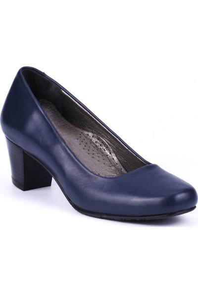 Girl Boss New York Manuela Lacivert Deri Hostes Ayakkabısı C4007-P-2