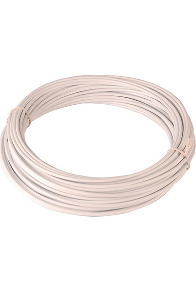BS Vites Dış Kablo Teflon Kaplı 1mt Beyaz