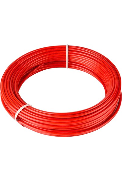 BS Vites Dış Kablo Teflon Kaplı 1mt Kırmızı