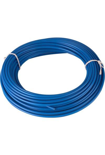BS Vites Dış Kablo Teflon Kaplı 1mt Mavi