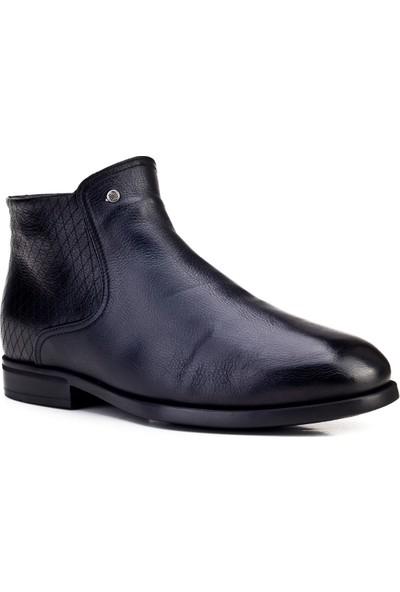 Cabani Kürklü Günlük Erkek Ayakkabı Siyah Deri