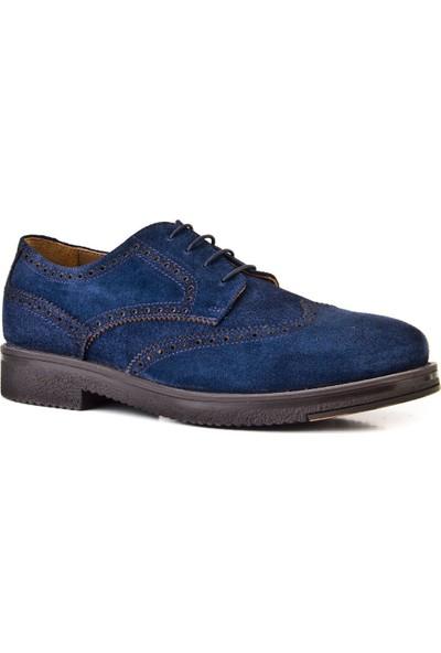Cabani Bağcıklı Günlük Erkek Ayakkabı Lacivert Süet