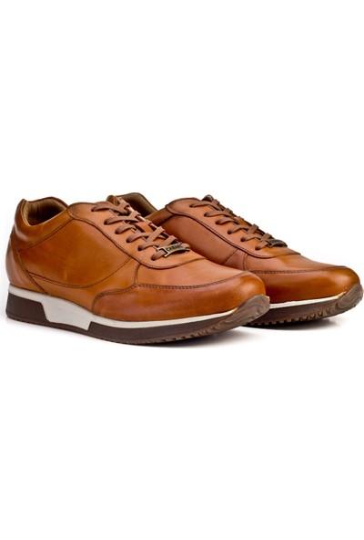 Cabani Bağcıklı - Erkek Ayakkabı Taba Antik Deri