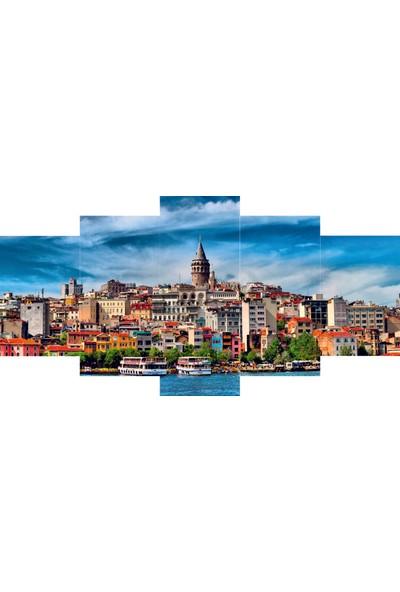 Reticolor İstanbul Galata Kulesi Mdf Tablo