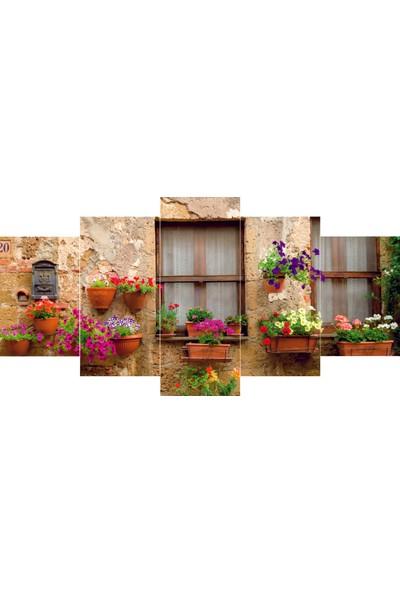 Reticolor Pencere Önü Çiçekli Mdf Tablo