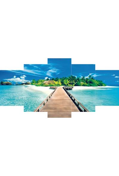 Reticolor Maldivler Manzaralı Mdf Tablo
