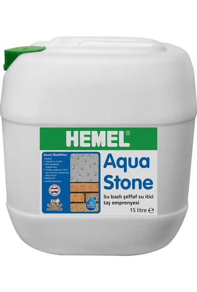 Hemel Aqua Stone 15 Lt Su İtici Şeffaf Taş Emprenye Ve İzolasyon Sıvısı