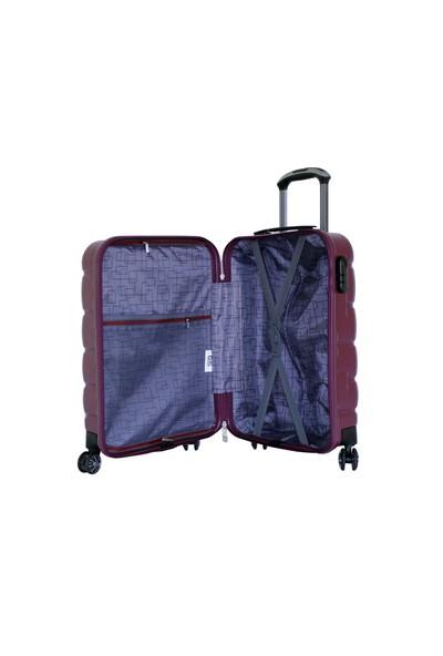 Ehs 105160-1Mr Ehs Mor Büyük Boy Valiz Bavul