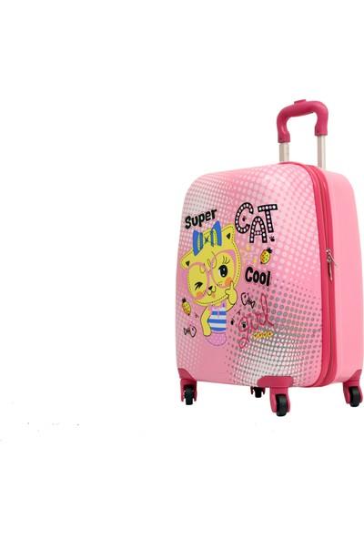 Mçs V 307 Cat Girl Abs Çocuk Valizi Bavul