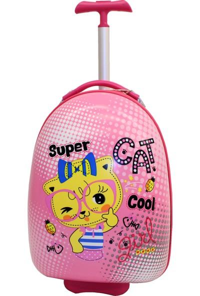 Mçs V 308 Süper Cat Pembe Çocuk Valiz Bavul