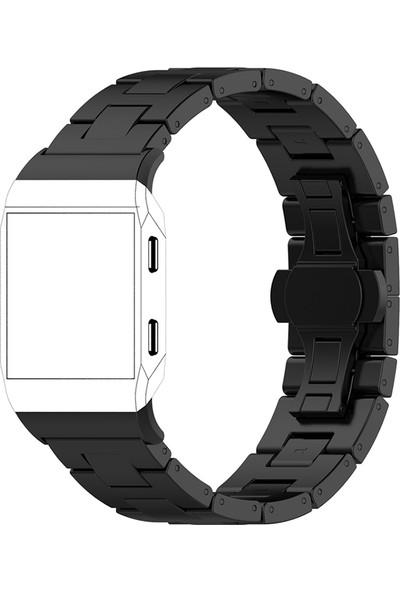 Akıllıphone Fitbit İonic Akıllı Saat Paslanmaz Çelik Kayış Kordom