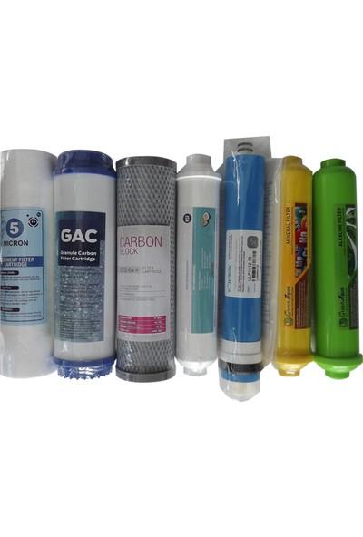 Aquaplus Conax İhlas Uyumlu U.S.A İthal Vontron Mebran 7 Li Set+Mineral +Alkali Filtre
