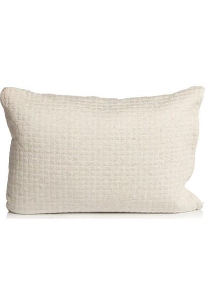 Terletmeyen Üşütmeyen Yün Örme Kumaşlı Visco Yastık