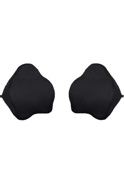 Yerli̇ 2 Adet Anatomik Bel Sırt Destek Minderi Yastığı + 2 Adet Plusmed Kulak Tıkacı