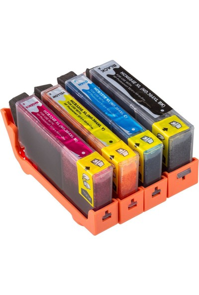For Lexmark Hp Photosmart B010A/B109A/B109D/F Kartuş Set 4 Renk Takım Muadil Yüksek Kapasite 364Xl