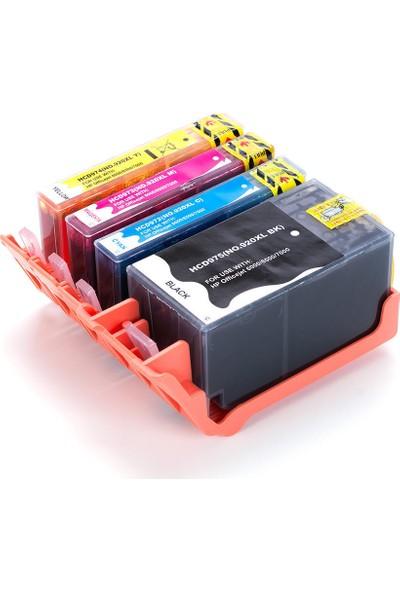 For Lexmark Hp Officejet 7000 Officejet 7500A Muadil Kartuş Seti Cmyk 4 Renk Sarı Kırmızı Mavi Siyah Takım 920Xl