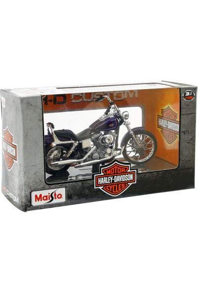 Maisto Harley Davidson 2001 FXDWG Dyna Wide Glide 1:18 Model Moto