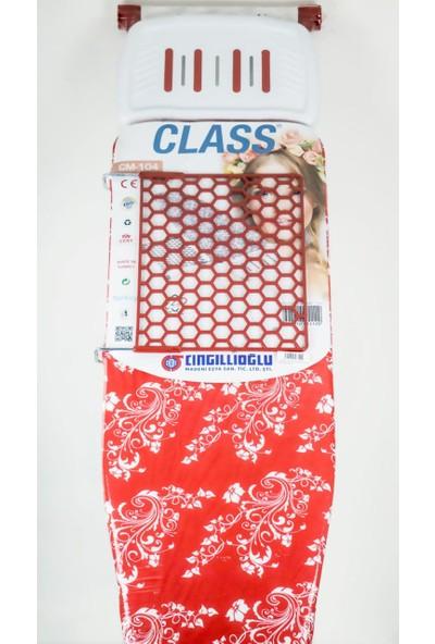 Çingillioğlu Cm-104 Ütü Masası Kırmızı-Beyaz Çiçek
