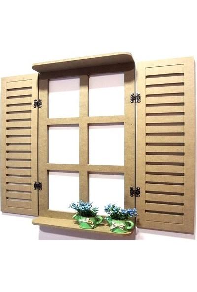 Ahşap Mdf Dekoratif Pencere Model Panjur