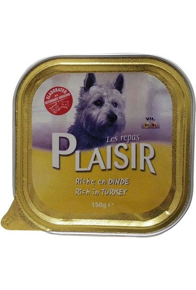 Plaisir Hindili Köpek Konservesi 150 gr