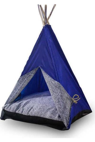 Bedspet Kedi Çadırı Mavi