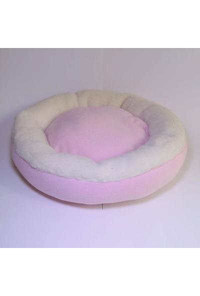 Bedspet Simit Kedi Köpek Yatağı Pembe
