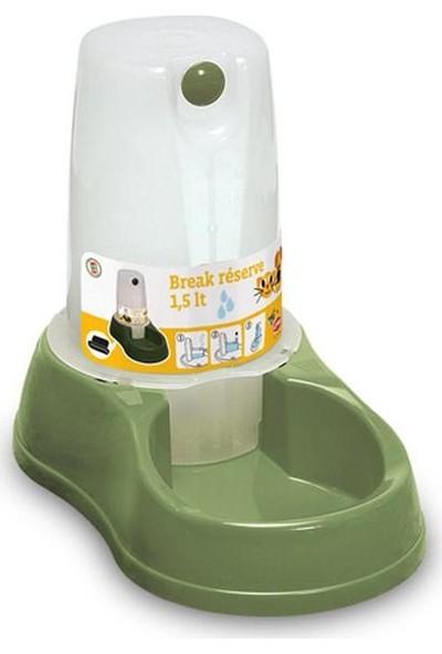 Stefanplast Rezerve Saklamalı Mama Kabı 1.5Lt Yeşil