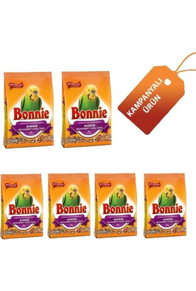 Bonnie Muhabbet Kuş Yemi 500Gr x 6 Adet