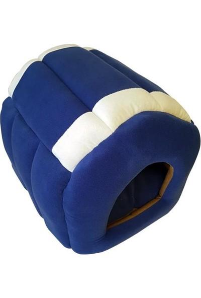 Bedspet Yuvalı Kedi Köpek Yatağı Mavi
