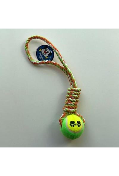 Dr Sacchi PT133 Köpek Oyuncağı Diş İpi Tenis Toplu 32Cm