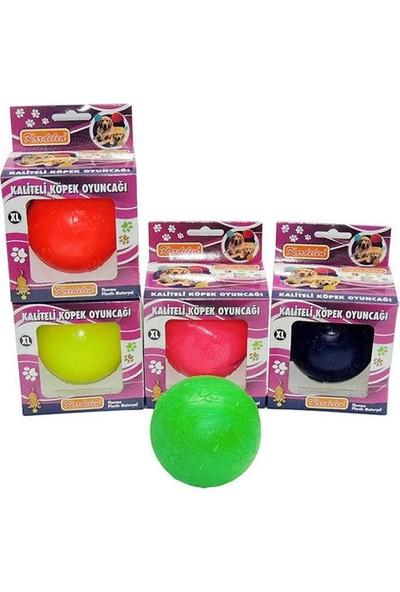 Kardelen Sert Plastik Top Köpek Oyuncağı 9Cm Sarı
